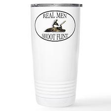 Real Men Shoot Flint Thermos Mug