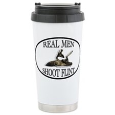 Real Men Shoot Flint Travel Coffee Mug