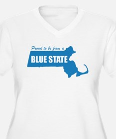 Blue State Massachusetts MA T-Shirt