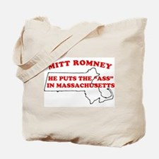 Mitt Romney Ass in Mass Tote Bag