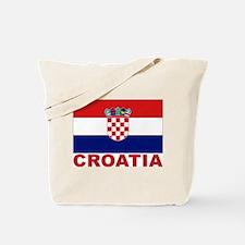 Croatia Flag Tote Bag