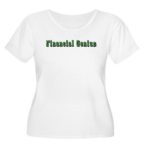 Financial Genius Women's Plus Size Scoop Neck T-Sh