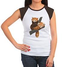 Red Pandas Women's Cap Sleeve T-Shirt