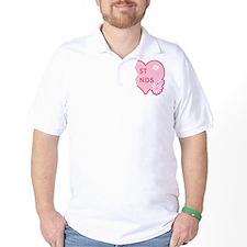 Pink Best Friends Heart Right T-Shirt