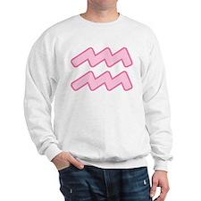 Pink Zodiac Aquarius Sweatshirt