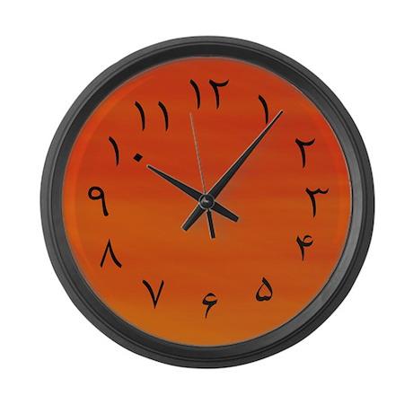 Persian Urdu Numbers Fahrenheit Large Wall Clock By