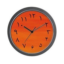 Persian/Urdu Numbers (Fahrenheit) Wall Clock