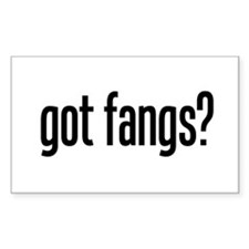 got fangs? Rectangle Decal
