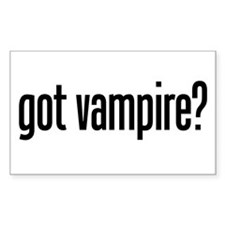 got vampire? Rectangle Decal