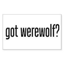 got werewolf? Rectangle Decal