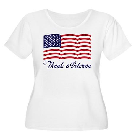 Thank A Veteran Women's Plus Size Scoop Neck T-Shi