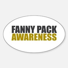 Fanny Pack Awareness Oval Decal