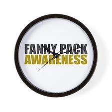 Fanny Pack Awareness Wall Clock