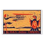 Alaska Southern Rectangle Sticker
