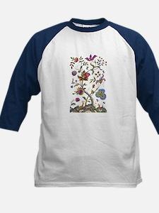 Jacobean Faux Embroidery Kids Baseball Jersey