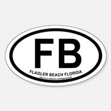 Flagler Beach, Florida Oval Decal