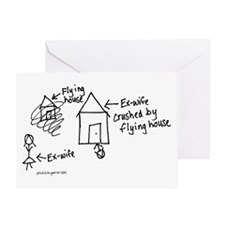 Flying House Greeting Card
