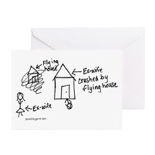 Flying House Greeting Cards (Pk of 10)