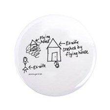 "Flying House 3.5"" Button"