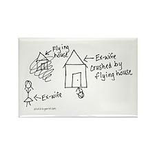 Flying House Rectangle Magnet