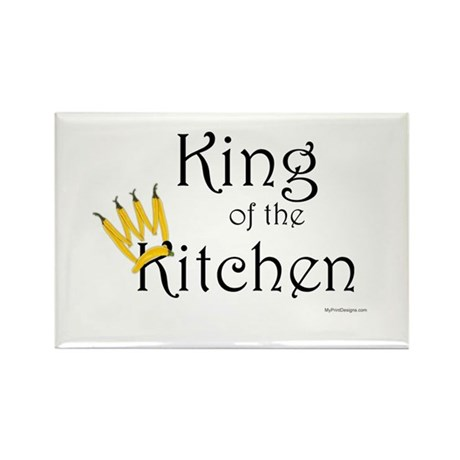 King of the Kitchen Rectangle Magnet (10 pack)