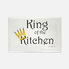 King of the Kitchen Rectangle Magnet