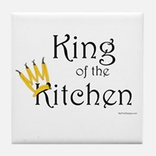 King of the Kitchen (pepper crown) Tile Coaster