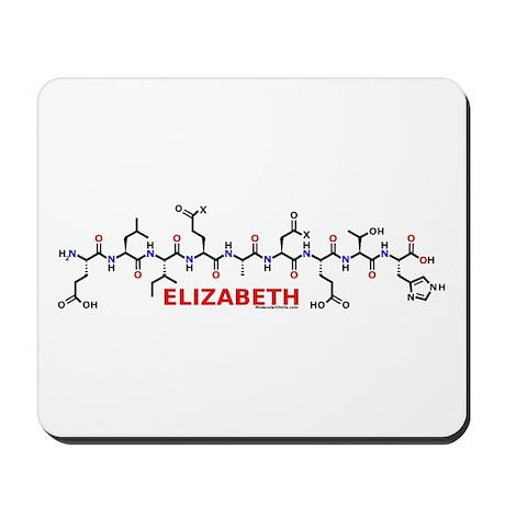 Elizabeth name molecule Mousepad