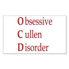 Obsessive Cullen Disorder Rectangle Decal