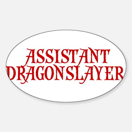 ASSISTANT COACH ASSISTANT DRA Oval Decal