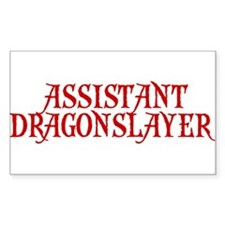 ASSISTANT COACH ASSISTANT DRA Rectangle Decal