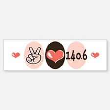Peace Love Triathlon 140.6 Bumper Bumper Bumper Sticker