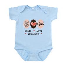 Peace Love Triathlon 140.6 Infant Bodysuit