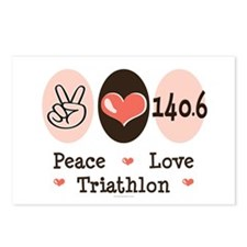 Peace Love Triathlon 140.6 Postcards (Package of 8