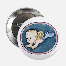 """Mermaid -blonde 2.25"""" Button"""