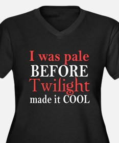 I Was Pale Before Women's Plus Size V-Neck Dark T-