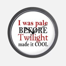I Was Pale Before Wall Clock