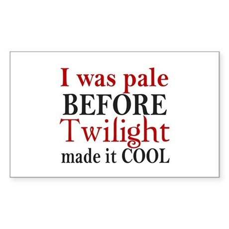 I Was Pale Before Rectangle Sticker