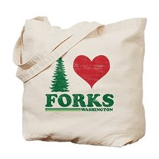 I Love Forks WA Distress Tote Bag