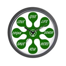 Organ Donor Splat Wall Clock