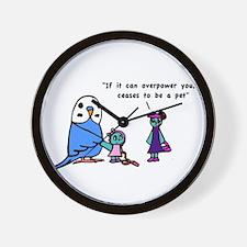 Funny Pet Proverb Comic Wall Clock