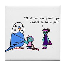 Funny Pet Proverb Comic Tile Coaster