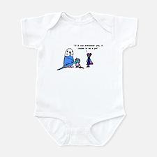 Funny Pet Proverb Comic Infant Bodysuit