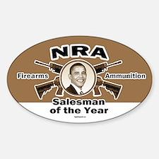 Firearms & Ammo Salesman Oval Decal