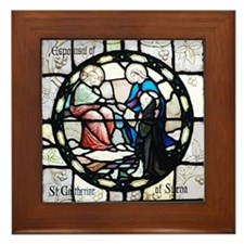 St Catherine of Sienna Framed Tile