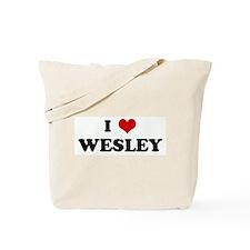 I Love WESLEY Tote Bag