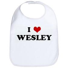 I Love WESLEY Bib