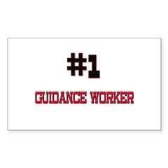 Number 1 GUIDANCE WORKER Rectangle Decal