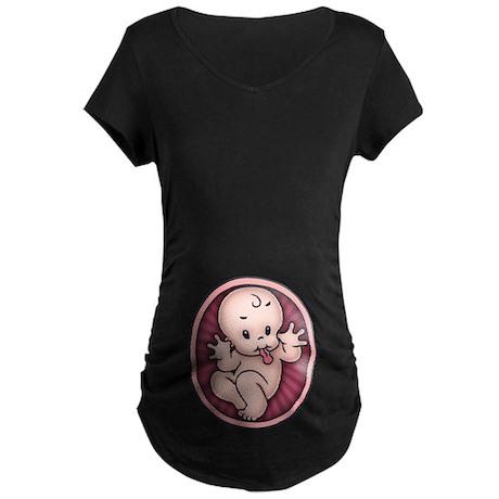 Razz Baby Maternity Dark T-Shirt