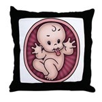 Razz Baby Throw Pillow